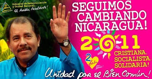 Seguimos cambiando nicaragua 2011 daniel ortega comite solidaridad sandinista